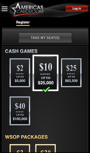 Americas Cardroom Mobile Poker
